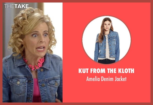 Kut From The Kloth blue jacket from Lady Dynamite seen with Maria Bamford