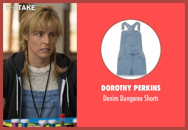 Dorothy Perkins blue shorts from Lady Dynamite seen with Maria Bamford