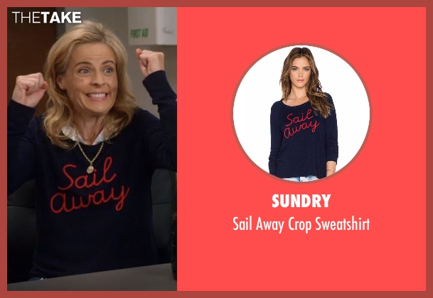 Sundry blue sweatshirt from Lady Dynamite seen with Maria Bamford