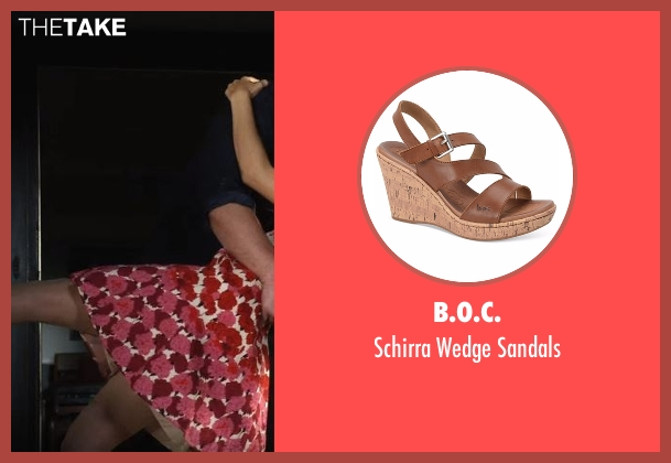 B.O.C. brown sandals from Lady Dynamite seen with Maria Bamford