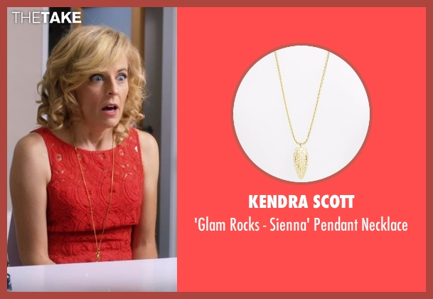 Kendra Scott gold necklace from Lady Dynamite seen with Maria Bamford