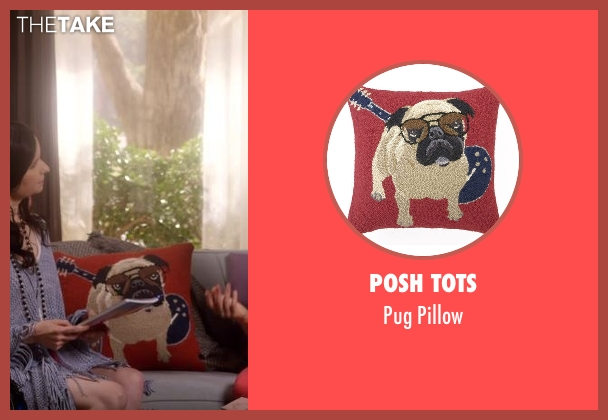 Posh Tots pillow from Lady Dynamite seen with Maria Bamford