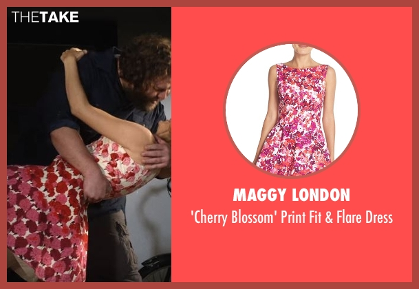 Maggy London pink dress from Lady Dynamite seen with Maria Bamford
