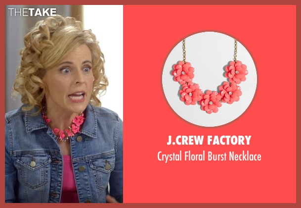 J.Crew Factory pink necklace from Lady Dynamite seen with Maria Bamford