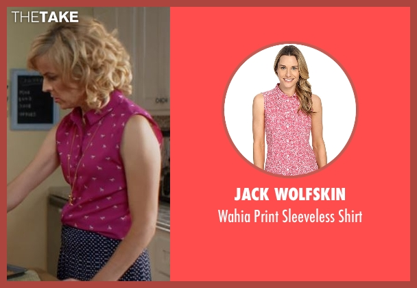 Jack Wolfskin pink shirt from Lady Dynamite seen with Maria Bamford
