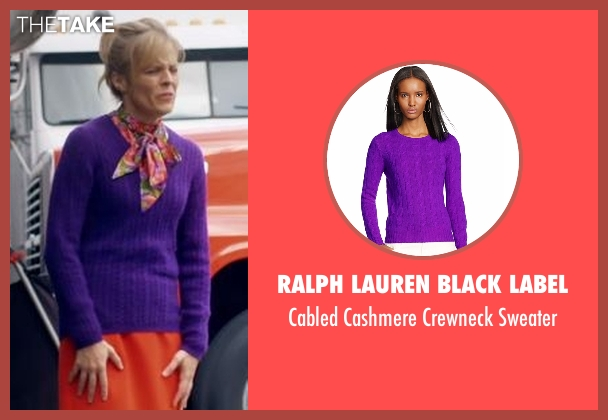 Ralph Lauren Black Label purple sweater from Lady Dynamite seen with Maria Bamford