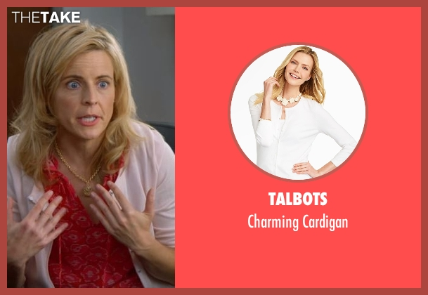 Talbots white cardigan from Lady Dynamite seen with Maria Bamford