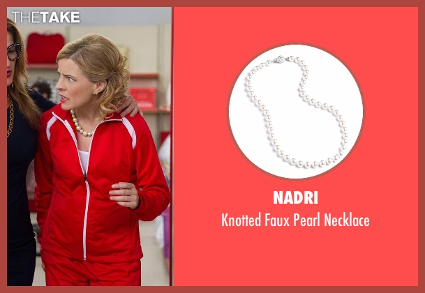Nadri white necklace from Lady Dynamite seen with Maria Bamford