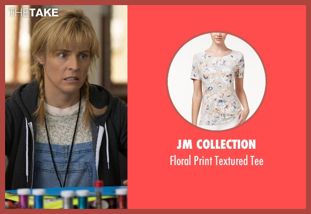 JM Collection white tee from Lady Dynamite seen with Maria Bamford