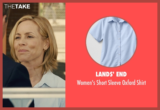 Lands' End blue shirt from McFarland, USA seen with Maria Bello (Cheryl White)