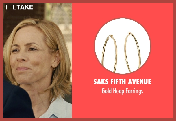 Saks Fifth Avenue gold earrings from McFarland, USA seen with Maria Bello (Cheryl White)