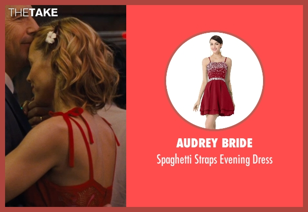 Audrey Bride red dress from McFarland, USA seen with Maria Bello (Cheryl White)