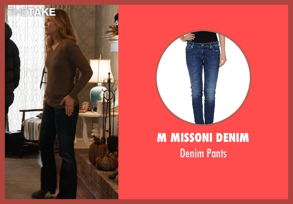 M Missoni Denim blue pants from Prisoners seen with Maria Bello (Grace Dover)