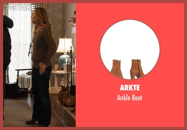 Arkte brown boot from Prisoners seen with Maria Bello (Grace Dover)