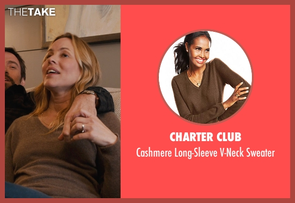 Charter Club brown sweater from Prisoners seen with Maria Bello (Grace Dover)