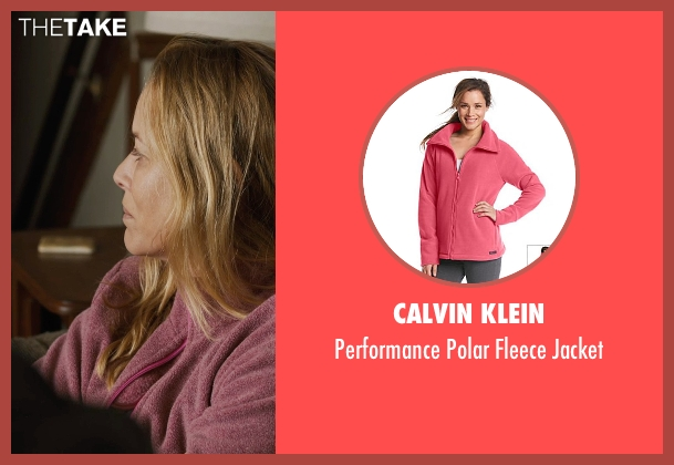Calvin Klein pink jacket from Prisoners seen with Maria Bello (Grace Dover)