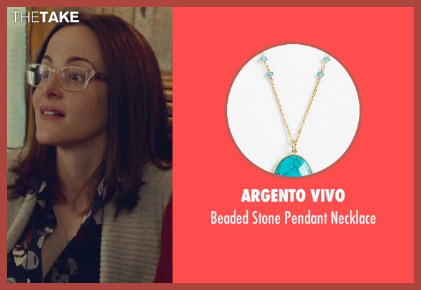 Argento Vivo gold necklace from While We're Young seen with Maria Dizzia (Marina)