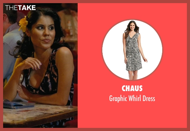 Chaus black dress from Hall Pass seen with Maria Duarte (Latino Woman # 2)