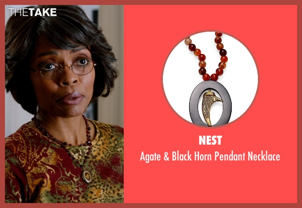 Nest brown necklace from Addicted seen with Maria Howell (Nina)