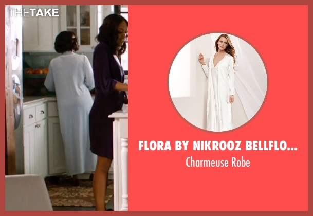 Flora by Nikrooz Bellflower white robe from Addicted seen with Maria Howell (Nina)