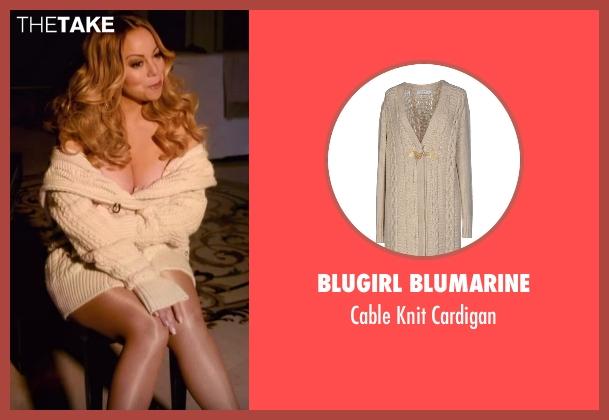 Blugirl Blumarine beige cardigan from Mariah's World seen with Mariah Carey
