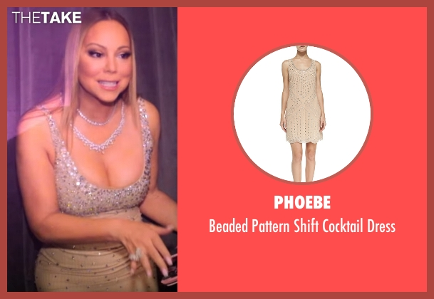 Phoebe beige dress from Mariah's World seen with Mariah Carey