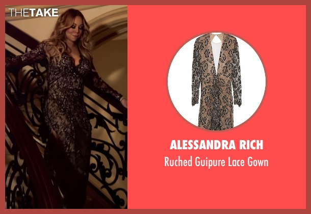 Alessandra Rich black gown from Mariah's World seen with Mariah Carey
