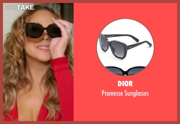 Dior black sunglasses from Mariah's World seen with Mariah Carey