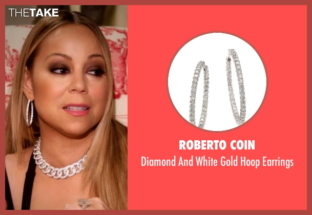 Roberto Coin silver earrings from Mariah's World seen with Mariah Carey