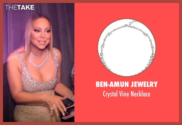 Ben-Amun Jewelry silver necklace from Mariah's World seen with Mariah Carey