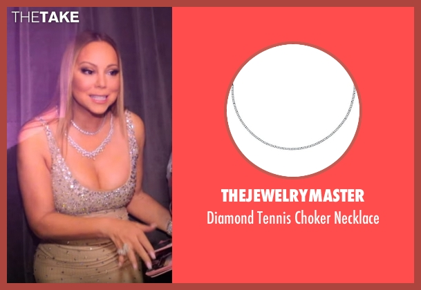TheJewelryMaster silver necklace from Mariah's World seen with Mariah Carey