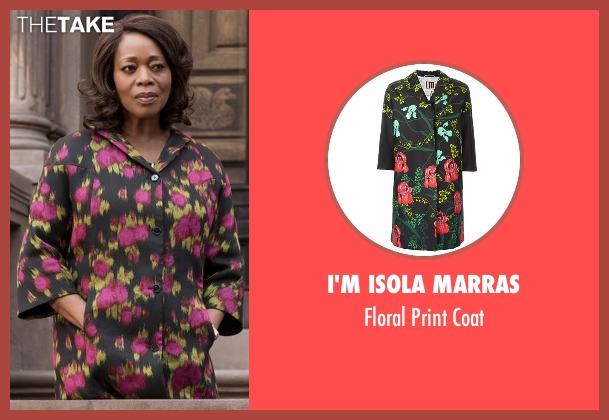 I'm Isola Marras black coat from Marvel's Luke Cage seen with Mariah Dillard (Alfre Woodard)