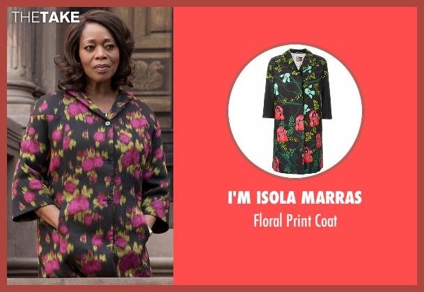 I'm Isola Marras   black coat from Marvel's Luke Cage seen with Mariah Dillard (Alfre Woodard)