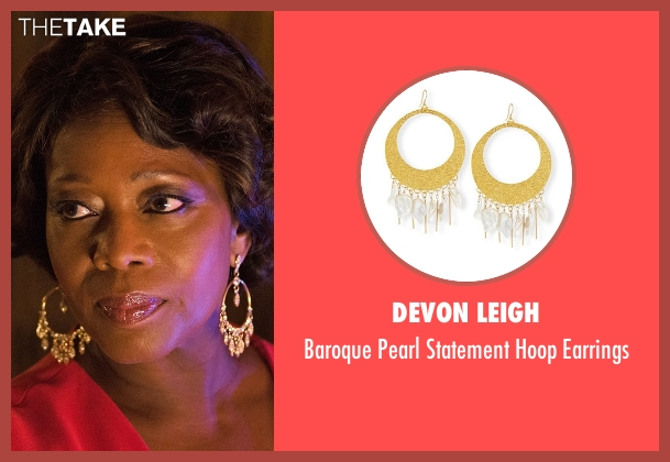 Devon Leigh gold earrings from Marvel's Luke Cage seen with Mariah Dillard (Alfre Woodard)