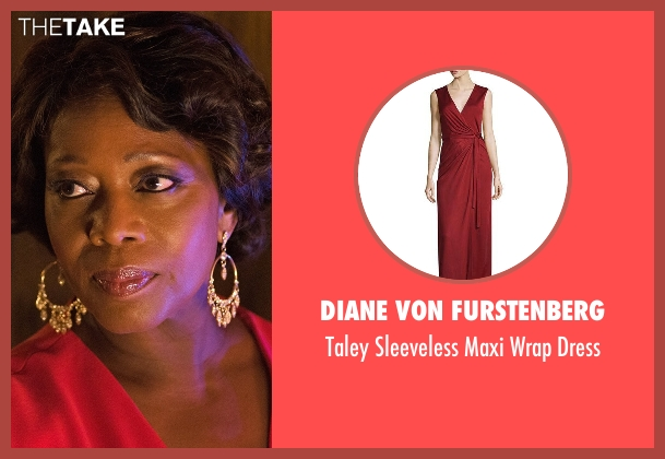 Diane von Furstenberg red dress from Marvel's Luke Cage seen with Mariah Dillard (Alfre Woodard)