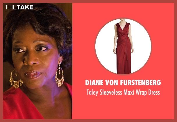 Diane von Furstenberg  red dress from Marvel's Luke Cage seen with Mariah Dillard (Alfre Woodard)