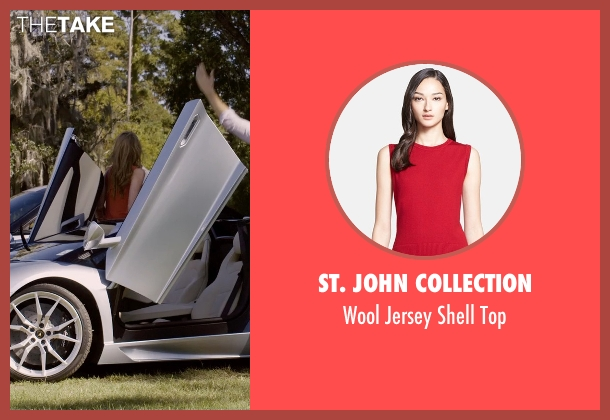 St. John Collection red top from Self/Less seen with Mariana Paola Vicente (Leah)