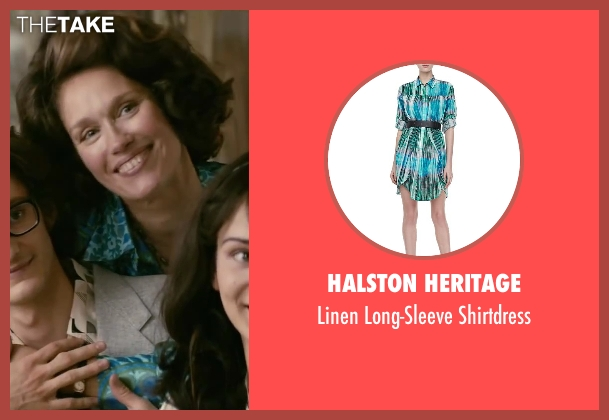 Halston Heritage blue shirtdress from Yves Saint Laurent seen with Marianne Basler (Lucienne Saint Laurent)