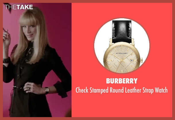 Burberry black watch from Yves Saint Laurent seen with Marie de Villepin (Betty Catroux)
