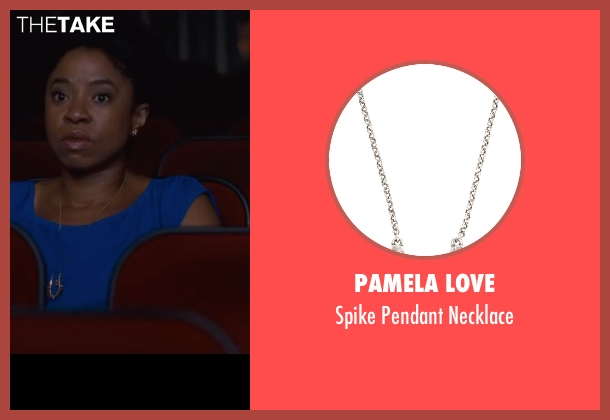 Pamela Love silver necklace from Trainwreck seen with Marina Franklin (Woman in Back of Theater)