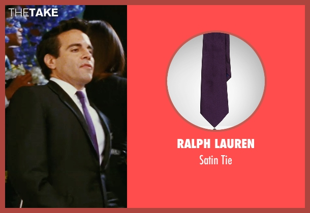 Ralph Lauren purple tie from Sex and the City seen with Mario Cantone (Anthony Marentino)