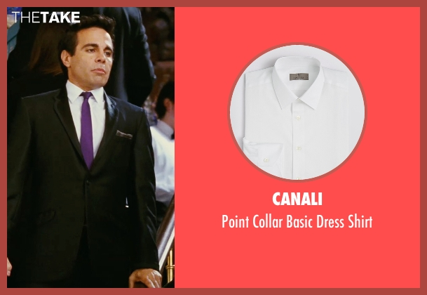 Canali white shirt from Sex and the City seen with Mario Cantone (Anthony Marentino)