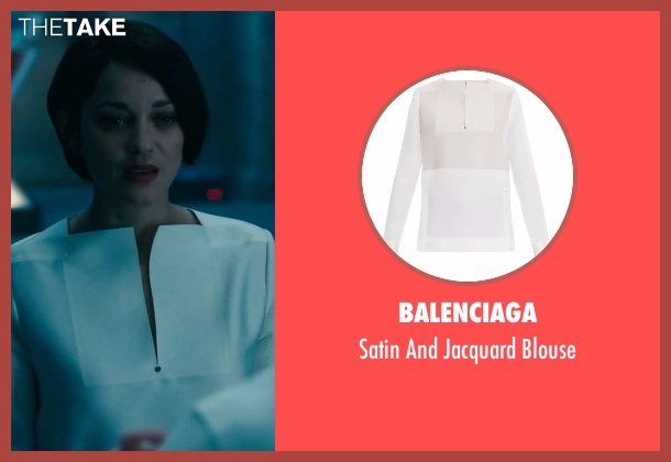 Balenciaga white blouse from Assassin's Creed seen with Marion Cotillard (Dr. Sophia Rikkin)