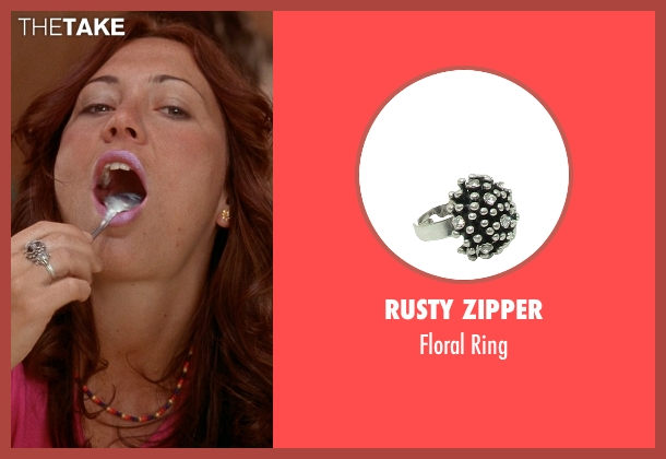 Rusty Zipper silver ring from Wet Hot American Summer seen with Marisa Ryan (Abby Bernstein)