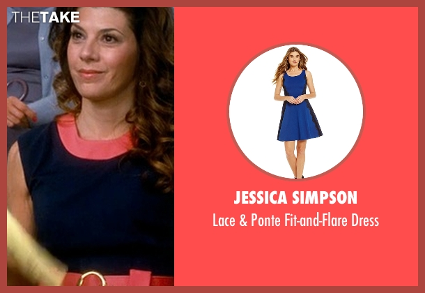 Jessica Simpson blue dress from Crazy, Stupid, Love. seen with Marisa Tomei (Kate Taffety)