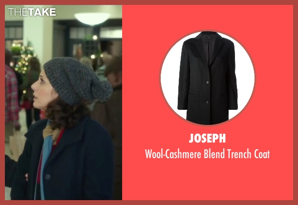 Joseph black coat from Love the Coopers seen with Marisa Tomei (Emma)