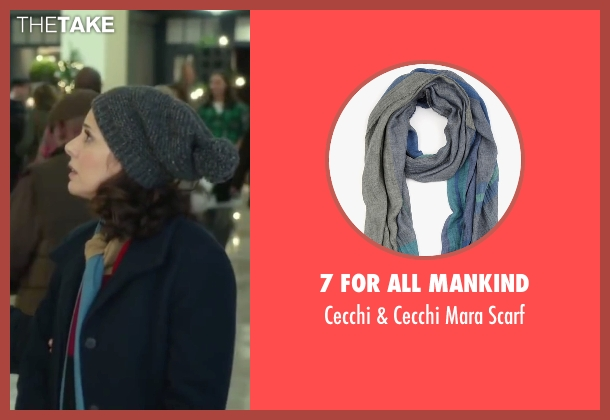 7 For All Mankind blue scarf from Love the Coopers seen with Marisa Tomei (Emma)