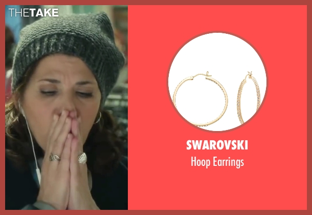 Swarovski gold earrings from Love the Coopers seen with Marisa Tomei (Emma)