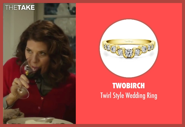 TwoBirch gold ring from Love the Coopers seen with Marisa Tomei (Emma)