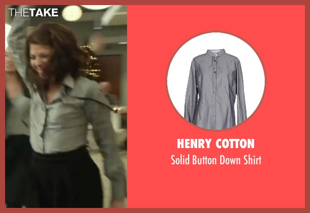 Henry Cotton gray shirt from Love the Coopers seen with Marisa Tomei (Emma)